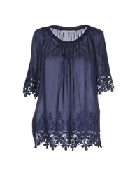 Bgn Shirts Blouses Women Dark Blue