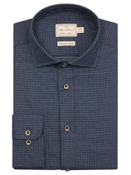 John Lewis And Co. Radcliffe Woven Dot Tailored Fit Shirt Blue