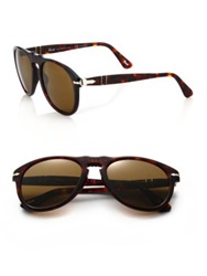 Persol Acetate Keyhole Sunglasses Tobacco Brown