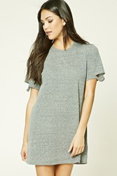 Forever 21 Mini T Shirt Dress Heather Grey