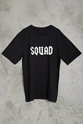 Forever 21 Disciples Squad Graphic Tee Black White