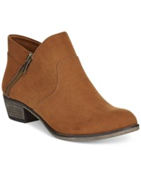 American Rag Abby Ankle Booties Only At Macy's Women's Shoes Cognac