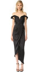 Zimmermann Winsome Drape Cocktail Dress Black