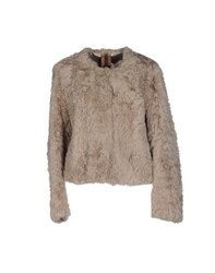 Blus By Suprema Coats And Jackets Fur Outerwear Women Light Grey