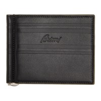 Brioni Black And Taupe Clip Wallet