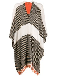 Missoni Knitted Poncho Style Cardi Coat Neutrals