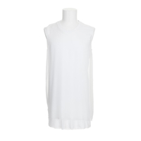 Blk Dnm Dress White