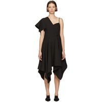 Edit Black Handkerchief Hem Asymmetric Dress