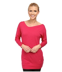 Black Diamond Fine Jade Tunic Rose Red Women's Blouse Pink