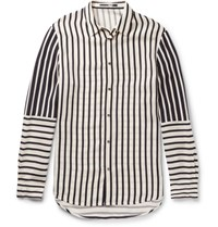 Mcq By Alexander Mcqueen Striped Satin Shirt Cream