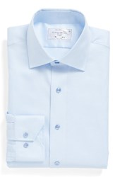 Lorenzo Uomo Men's Big And Tall Trim Fit Houndstooth Dress Shirt Light Blue