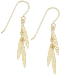 Macy's Leaf Inspired Dangle Drop Earrings In 10K Gold Yellow Gold