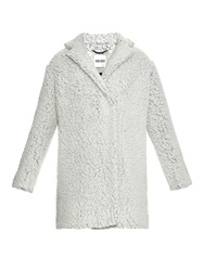 Kenzo Faux Shearling Wool Blend Coat