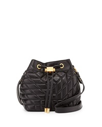 Badgley Mischka Clarissa Quilted Leather Crossbody Bag Black