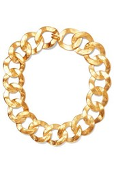 Kenneth Jay Lane Gold Tone Necklace One Size