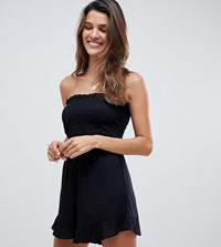Akasa Bandeau Beach Playsuit In Black
