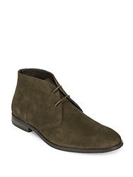 Saks Fifth Avenue Brindisi Eye Leather Chukka Boots Brown