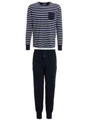 Jockey Set Pyjama Set Navy Dark Blue