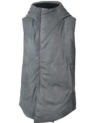 10Sei0otto Sleeveless Large Lapels Gilet Grey