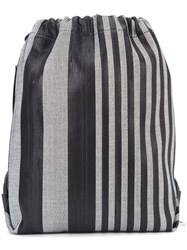 Proenza Schouler Striped Drawstring Backpack Women Acetate One Size Black