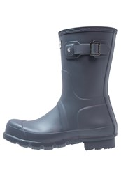 Hunter Wellies Dark Slate Dark Blue