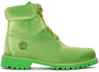 Off White Green Timberland Edition 6 Inch Textile Boots