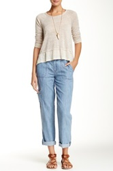 Level 99 Lily Carpenter Slouchy Cargo Pant Blue