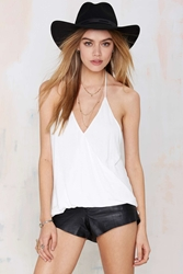 Nasty Gal Highway Star Crossover Knit Halter Top