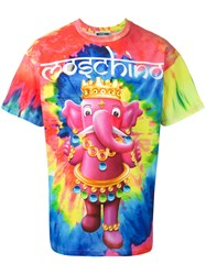 Moschino Crowned Elephant Tie Dye T Shirt