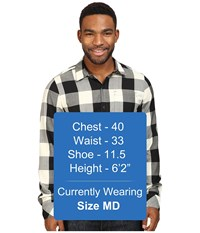 Icebreaker Departure Ii Long Sleeve Shirt Plaid Stealth Snow Men's Long Sleeve Button Up Black