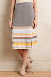 Anthropologie Chelsea Knit Skirt Grey Motif
