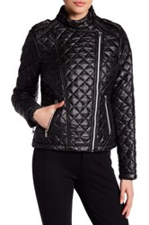 Kenneth Cole Quilted Moto Jacket Black