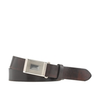 J.Crew Classic Leather Belt With Removable Silver Plated Buckle Classic Brown