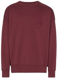 J.W.Anderson Jw Anderson Button Shoulder Oversized Sweatshirt Red