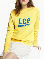 Lee Logo Sweatshirt Yellow Sign