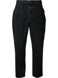En Route Baggy Cropped Trousers Black
