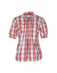 Sun 68 Shirts Short Sleeve Shirts Women Brick Red