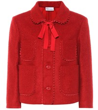 Red Valentino Wool Blend Jacket Red