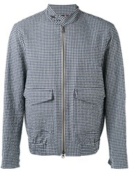 Fay Gingham Jacket Men Cotton Lyocell Polyimide L White