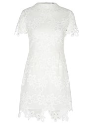 True Decadence Crochet Lace Dress White