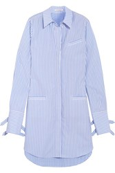 J.W.Anderson Striped Cotton And Gingham Shirt Dress Light Blue