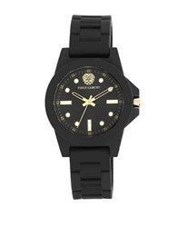 Vince Camuto Black Stainless Steel Silicone Strap Watch Vc 5280Bkbk