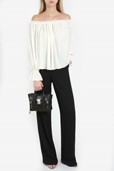 Paul And Joe Crepe Wide Leg Trousers Black