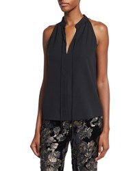 A.L.C. Ivy Sleeveless Tie Front Top Black
