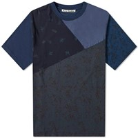 Acne Studios Extorr Floral Patchwork Tee Blue