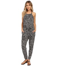 Seafolly Safari Jumpsuit Cover Up Black White Women's Jumpsuit And Rompers One Piece