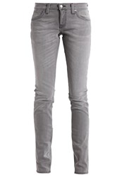 Nudie Jeans Long John Straight Leg Grey Sparks Grey Denim
