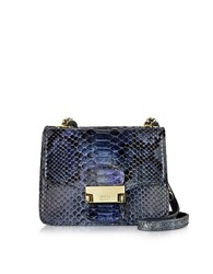 Ghibli Python Mini Crossbody Bag Dark Blue