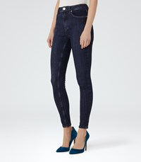 Reiss Helvin Womens High Rise Skinny Jeans In Blue