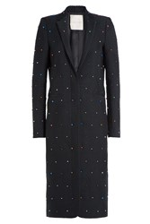 Marco De Vincenzo Embellished Jacquard Coat Black
